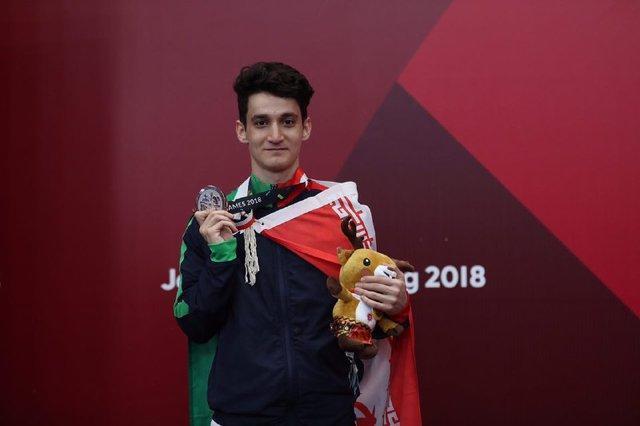 بختیار نخستین نقره کاروان ایران در بازی های آسیایی را کسب کرد