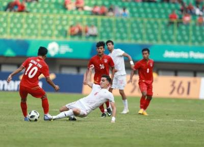 بازی های آسیایی 2018، شکست تیم فوتبال امید مقابل میانمار، صعود شاگردان کرانچار به عنوان تیم اول + جدول