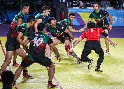 پیروزی مقتدرانه تیم ملی کبدی ایران مقابل پاکستان