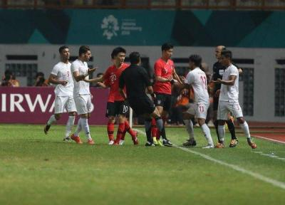 پیروزی یک نیمه ای کره جنوبی مقابل ایران، تنش بین بازیکنان دو تیم