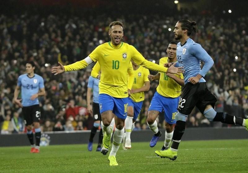 فوتبال دنیا، برتری برزیل بر اروگوئه با پنالتی نیمار