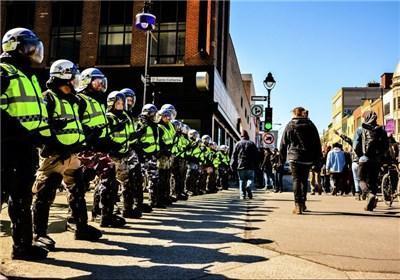تظاهرات کانادایی ها در اعتراض به سیاست های ریاضتی