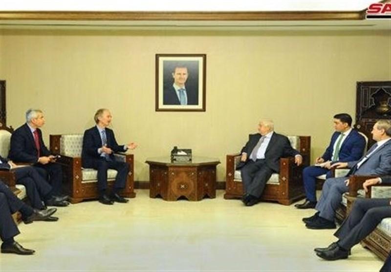 نماینده سازمان ملل با وزیر خارجه سوریه دیدار می کند