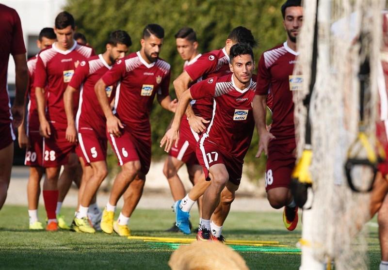 تمرین تاکتیکی شاگردان کالدرون پیش از سفر به تبریز