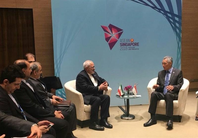 دیدار ظریف با نخست وزیر سنگاپور و وزرای خارجه ترکیه، ژاپن و فیلیپین