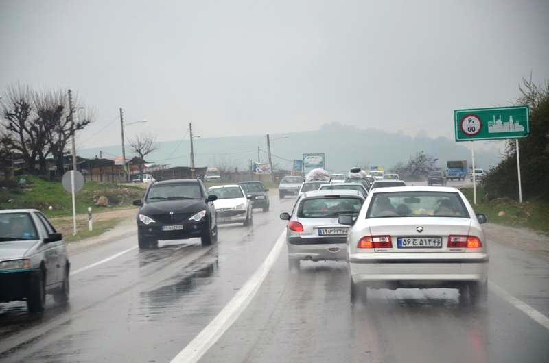 افزایش وقوع حوادث جاده ای در روز های بارانی