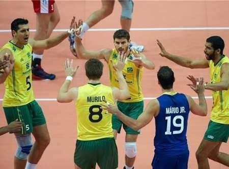 لیگ جهانی والیبال، برزیل از سد کانادا گذشت