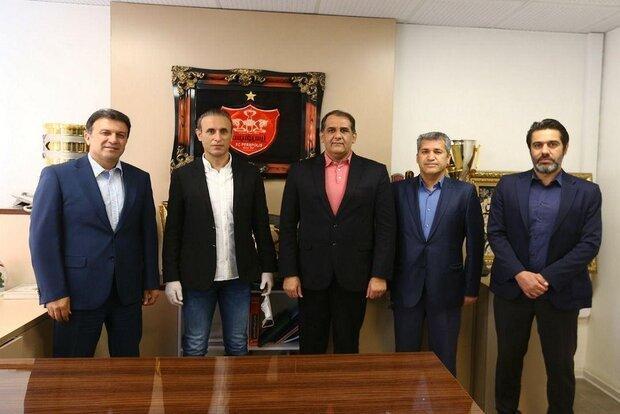 نشست سه جانبه در باشگاه پرسپولیس با حضور یحیی گل محمدی
