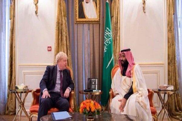 بوریس جانسون و بن سلمان درباره بحران یمن مصاحبه کردند