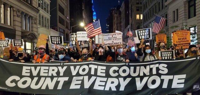 اعتراض های خیابانی در آمریکا، درخواست شمارش تمام آرا