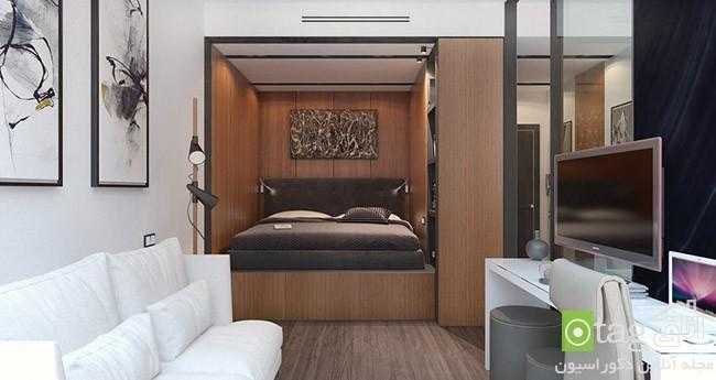 دکوراسیون آپارتمان کوچک همراه پلان کف سازی ، عکس 1395