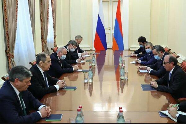 گفتگوی وزیر خارجه روسیه با مقامات ارمنستان پیرامون شرایط قره باغ